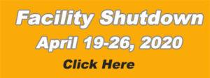 MTM Shutdown April 19-26 - 2020
